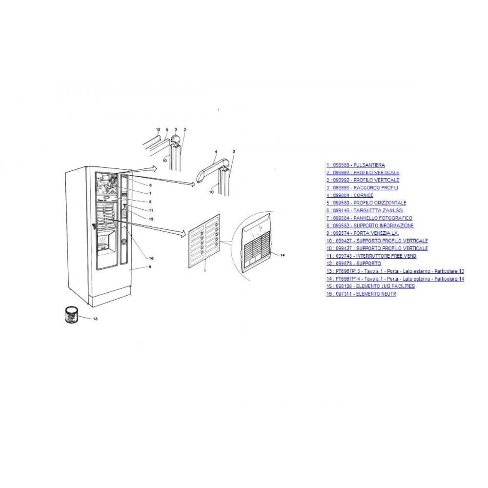 Външна врата кафеавтомат ZANUSI VENEZIA (0)